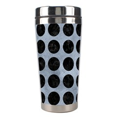 Circles1 Black Marble & Silver Paint Stainless Steel Travel Tumblers by trendistuff