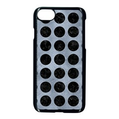 Circles1 Black Marble & Silver Paint Apple Iphone 7 Seamless Case (black)