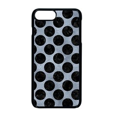 Circles2 Black Marble & Silver Paint Apple Iphone 8 Plus Seamless Case (black) by trendistuff