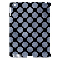Circles2 Black Marble & Silver Paint (r) Apple Ipad 3/4 Hardshell Case (compatible With Smart Cover) by trendistuff