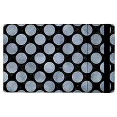 Circles2 Black Marble & Silver Paint (r) Apple Ipad 3/4 Flip Case by trendistuff