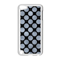 Circles2 Black Marble & Silver Paint (r) Apple Ipod Touch 5 Case (white) by trendistuff