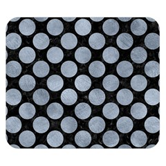 Circles2 Black Marble & Silver Paint (r) Double Sided Flano Blanket (small)