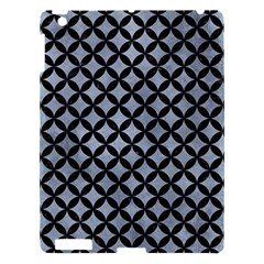 Circles3 Black Marble & Silver Paint Apple Ipad 3/4 Hardshell Case by trendistuff