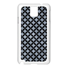 Circles3 Black Marble & Silver Paint Samsung Galaxy Note 3 N9005 Case (white) by trendistuff