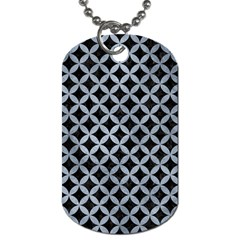 Circles3 Black Marble & Silver Paint (r) Dog Tag (two Sides) by trendistuff