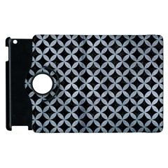 Circles3 Black Marble & Silver Paint (r) Apple Ipad 2 Flip 360 Case by trendistuff