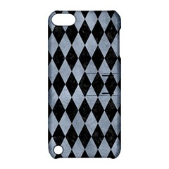 Diamond1 Black Marble & Silver Paint Apple Ipod Touch 5 Hardshell Case With Stand by trendistuff