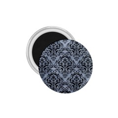 Damask1 Black Marble & Silver Paint 1 75  Magnets by trendistuff