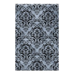 Damask1 Black Marble & Silver Paint Shower Curtain 48  X 72  (small)  by trendistuff
