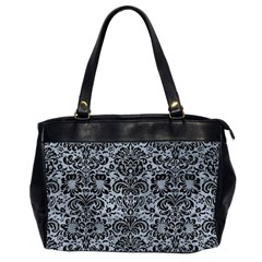 Damask2 Black Marble & Silver Paint Office Handbags (2 Sides)  by trendistuff
