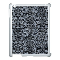 Damask2 Black Marble & Silver Paint Apple Ipad 3/4 Case (white) by trendistuff