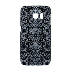 Damask2 Black Marble & Silver Paint (r) Galaxy S6 Edge