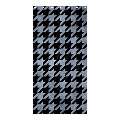 Houndstooth1 Black Marble & Silver Paint Shower Curtain 36  X 72  (stall)  by trendistuff