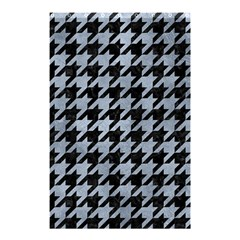 Houndstooth1 Black Marble & Silver Paint Shower Curtain 48  X 72  (small)  by trendistuff