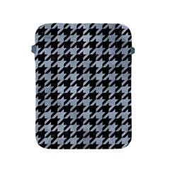 Houndstooth1 Black Marble & Silver Paint Apple Ipad 2/3/4 Protective Soft Cases by trendistuff