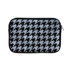 Houndstooth1 Black Marble & Silver Paint Apple Ipad Mini Zipper Cases by trendistuff