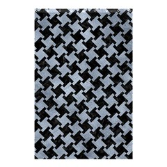 Houndstooth2 Black Marble & Silver Paint Shower Curtain 48  X 72  (small)  by trendistuff