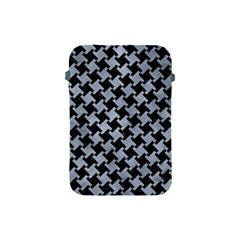 Houndstooth2 Black Marble & Silver Paint Apple Ipad Mini Protective Soft Cases by trendistuff