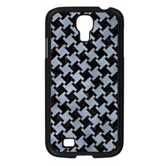 Houndstooth2 Black Marble & Silver Paint Samsung Galaxy S4 I9500/ I9505 Case (black) by trendistuff