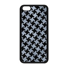 Houndstooth2 Black Marble & Silver Paint Apple Iphone 5c Seamless Case (black) by trendistuff