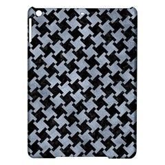 Houndstooth2 Black Marble & Silver Paint Ipad Air Hardshell Cases by trendistuff