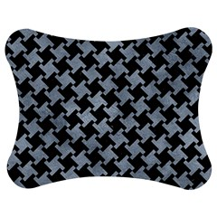Houndstooth2 Black Marble & Silver Paint Jigsaw Puzzle Photo Stand (bow) by trendistuff
