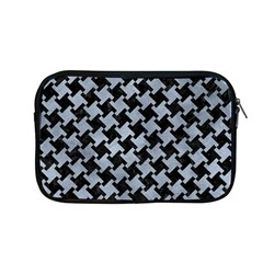 Houndstooth2 Black Marble & Silver Paint Apple Macbook Pro 13  Zipper Case by trendistuff
