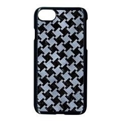 Houndstooth2 Black Marble & Silver Paint Apple Iphone 8 Seamless Case (black) by trendistuff