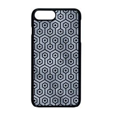 Hexagon1 Black Marble & Silver Paint Apple Iphone 8 Plus Seamless Case (black) by trendistuff