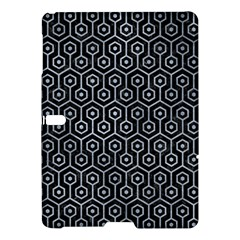 Hexagon1 Black Marble & Silver Paint (r) Samsung Galaxy Tab S (10 5 ) Hardshell Case  by trendistuff