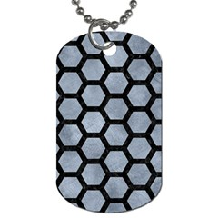 Hexagon2 Black Marble & Silver Paint Dog Tag (two Sides) by trendistuff