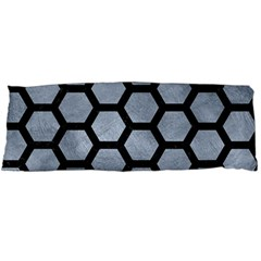 Hexagon2 Black Marble & Silver Paint Body Pillow Case Dakimakura (two Sides) by trendistuff