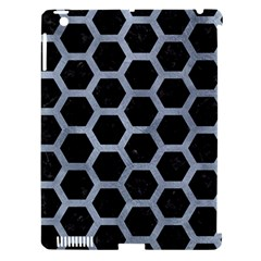Hexagon2 Black Marble & Silver Paint (r) Apple Ipad 3/4 Hardshell Case (compatible With Smart Cover) by trendistuff