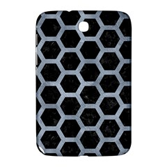 Hexagon2 Black Marble & Silver Paint (r) Samsung Galaxy Note 8 0 N5100 Hardshell Case  by trendistuff