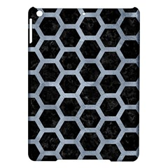 Hexagon2 Black Marble & Silver Paint (r) Ipad Air Hardshell Cases by trendistuff