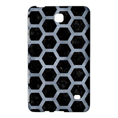 Hexagon2 Black Marble & Silver Paint (r) Samsung Galaxy Tab 4 (8 ) Hardshell Case  by trendistuff