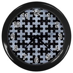 Puzzle1 Black Marble & Silver Paint Wall Clocks (black) by trendistuff