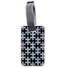 Puzzle1 Black Marble & Silver Paint Luggage Tags (one Side)  by trendistuff