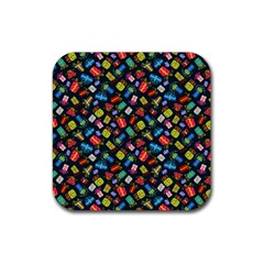 Christmas Pattern Rubber Square Coaster (4 Pack)  by tarastyle