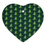 Christmas Pattern Ornament (Heart) Front