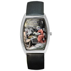 The Birth Of Christ Barrel Style Metal Watch by Valentinaart