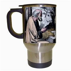 The Birth Of Christ Travel Mugs (white) by Valentinaart
