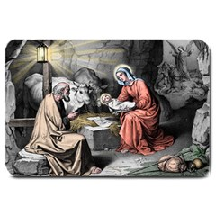 The Birth Of Christ Large Doormat  by Valentinaart