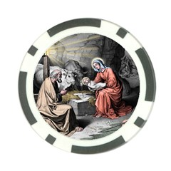 The Birth Of Christ Poker Chip Card Guard (10 Pack) by Valentinaart