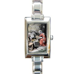 The Birth Of Christ Rectangle Italian Charm Watch by Valentinaart