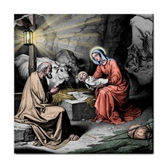 The Birth Of Christ Tile Coasters by Valentinaart