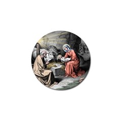 The Birth Of Christ Golf Ball Marker by Valentinaart