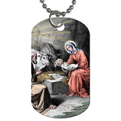 The Birth Of Christ Dog Tag (two Sides) by Valentinaart