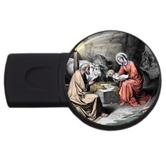 The Birth Of Christ Usb Flash Drive Round (2 Gb) by Valentinaart
